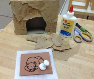 Hibernating Bear Craft- Montessori