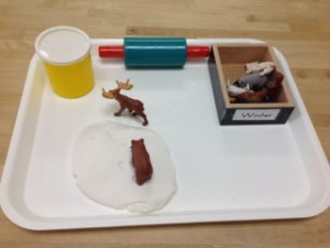 Animal Tracks in Snow- Montessori