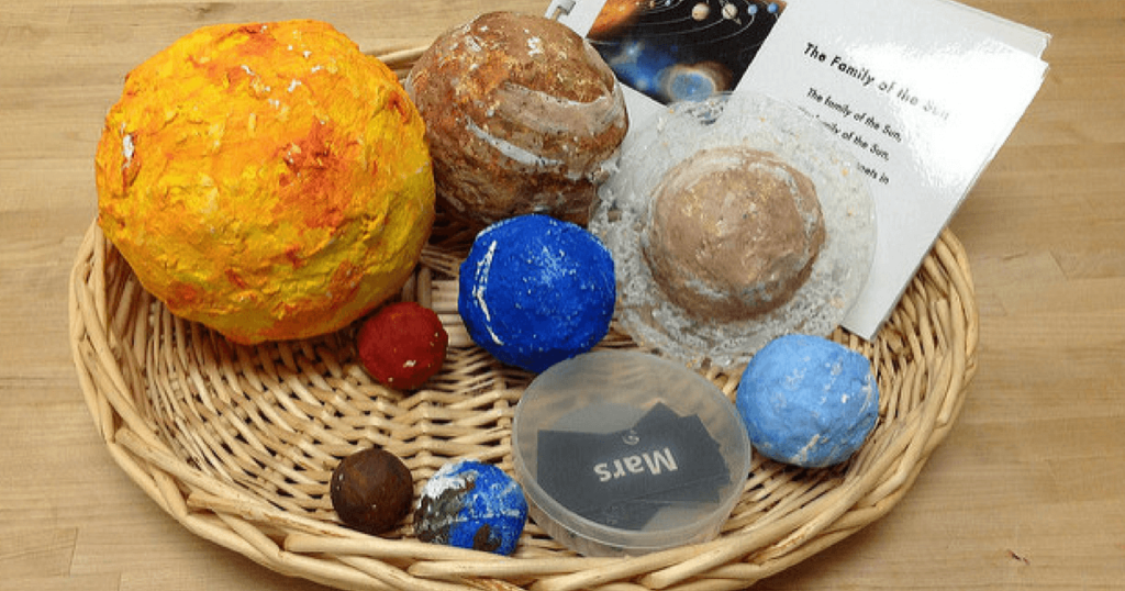 Preschool and Montessori activities for an Astronomy and Space Unit