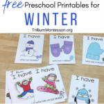 Free preschool printables for winter