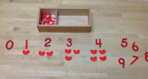 Heart Numbers and Counters- Trillium Montessori Math