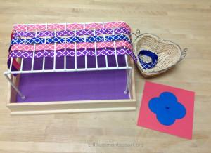 Valentine Ribbon Weaving- Trillium Montessori