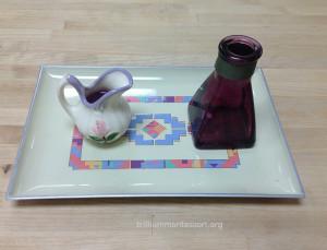 Liquid Pouring Purple Water- Trillium Montessori Fine Motor
