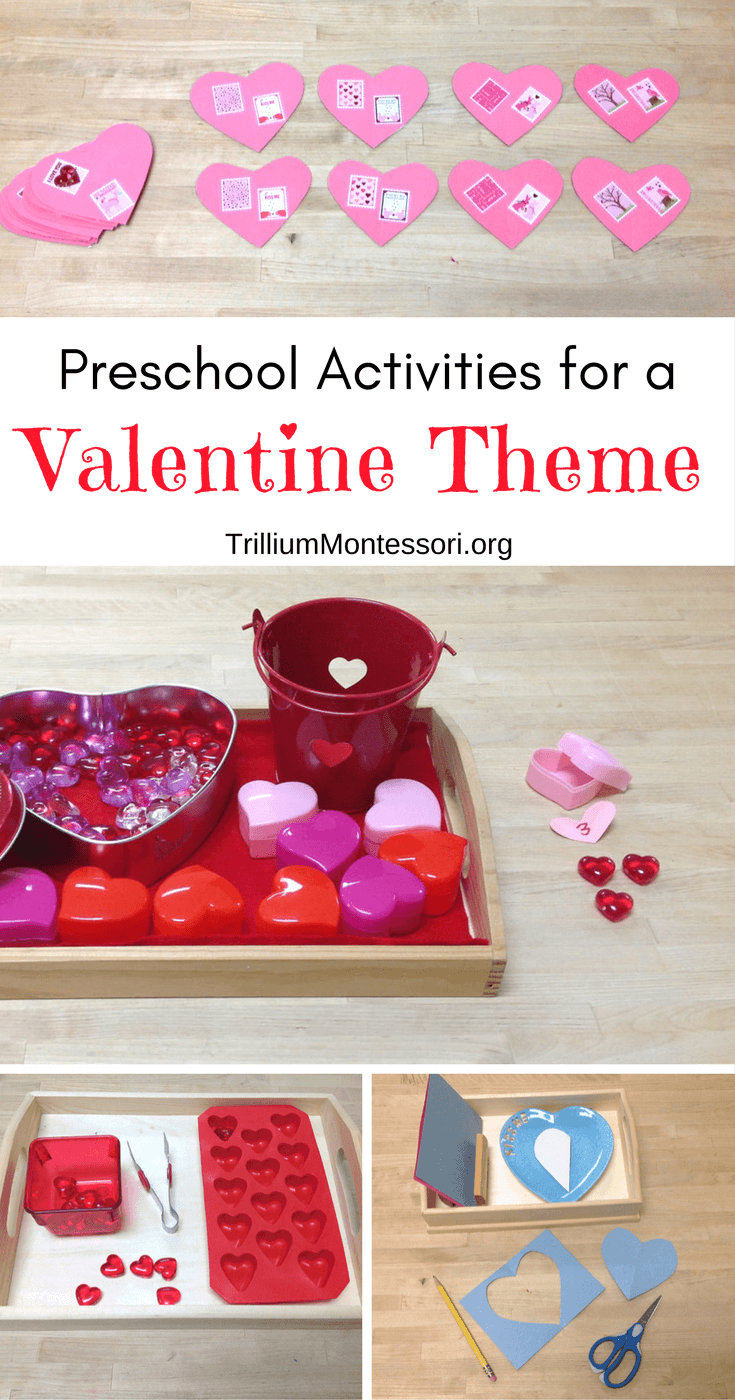 Preschool activities for a valentine theme