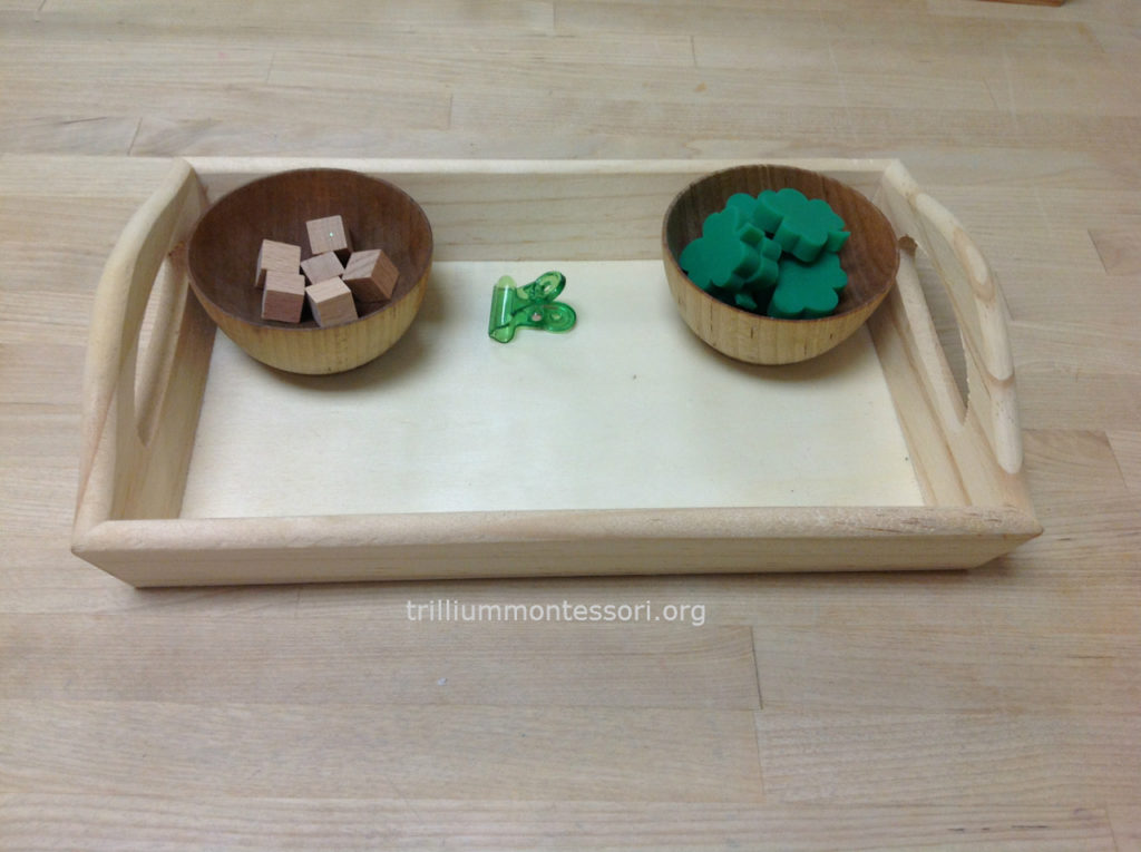 Shamrock balancing- Trillium Montessori