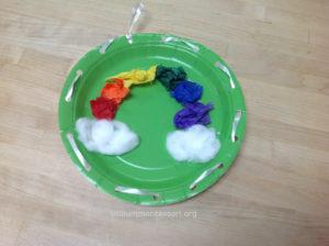 Rainbow Lacing Trillium Montessori