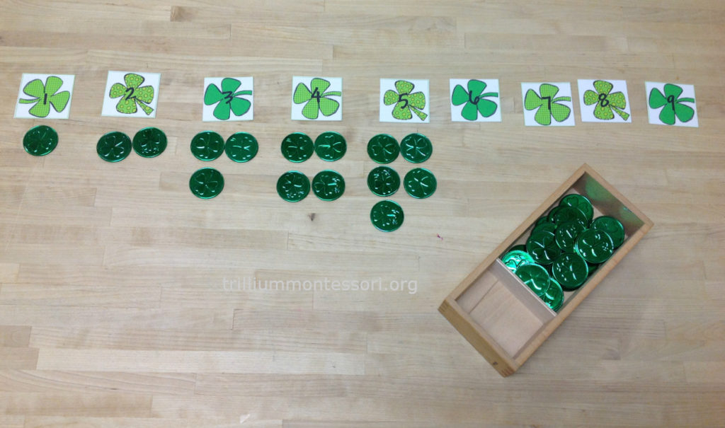 Shamrock Counting- Trillium Montessori