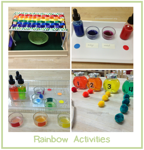 Rainbow Activities at Trillium Montessori