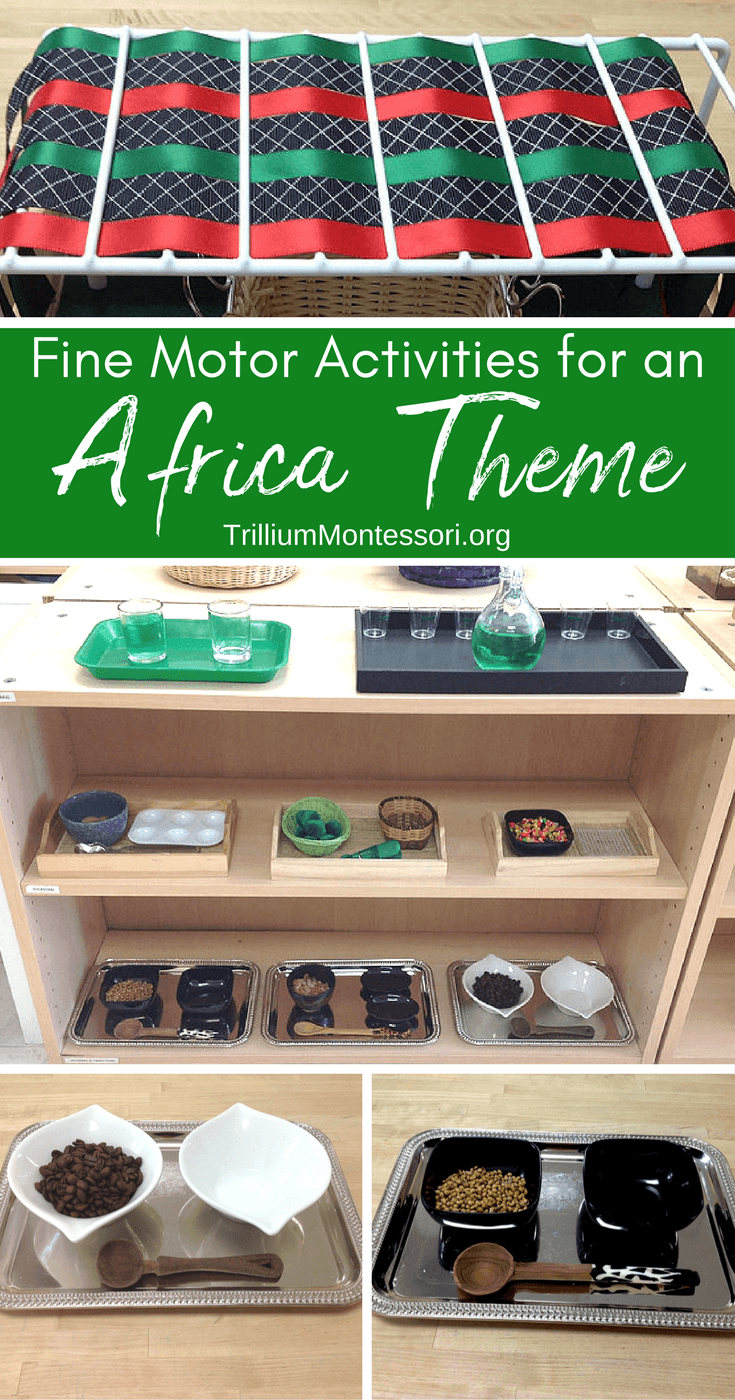 Fine Motor Activities for an Africa Theme