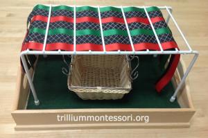 Weaving ribbons at Trillium Montessori
