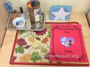 Mothers Day Card Making Work at Trillium Montessori