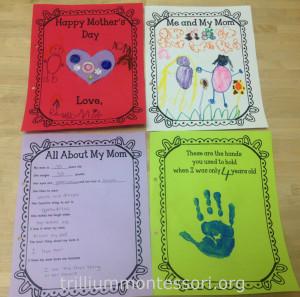 Mothers Day Card at Trillium Montessori