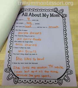 Mothers Day Interview at Trillium Montessori (2)