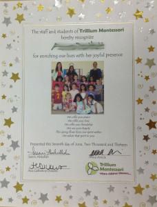 Montessori graduation diploma