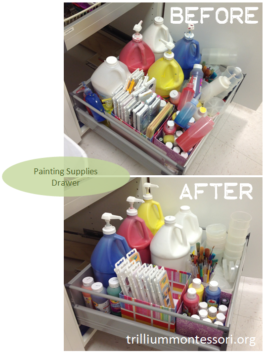 Painting Supplies Drawer