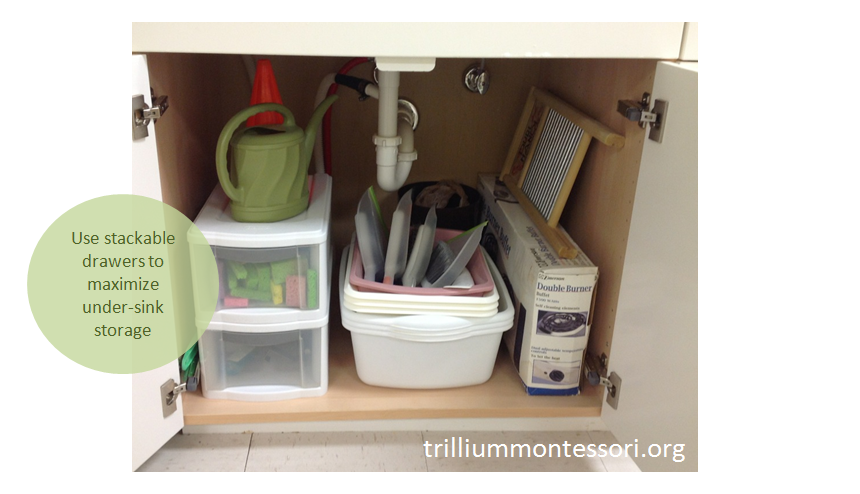 Stackable drawers for under-sink storage