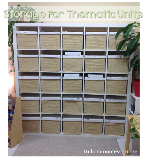 Storage for thematic units