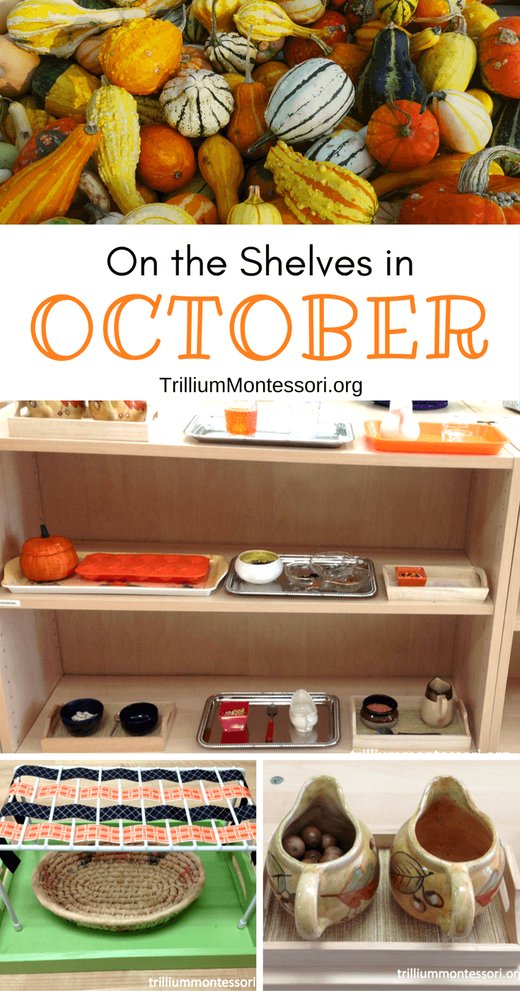 Preschool and Montessori activities for October and a Fall theme