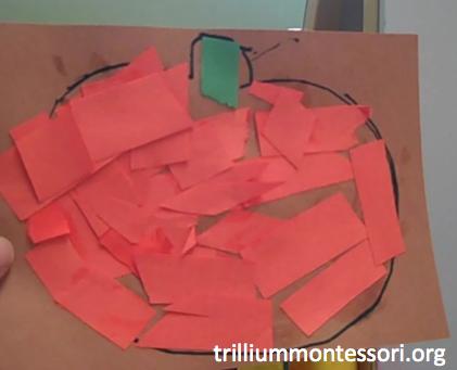 Torn Paper Pumpkin Collage