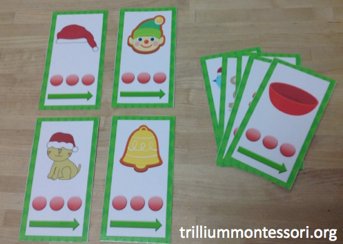 December Phoneme Point and Slide Cards