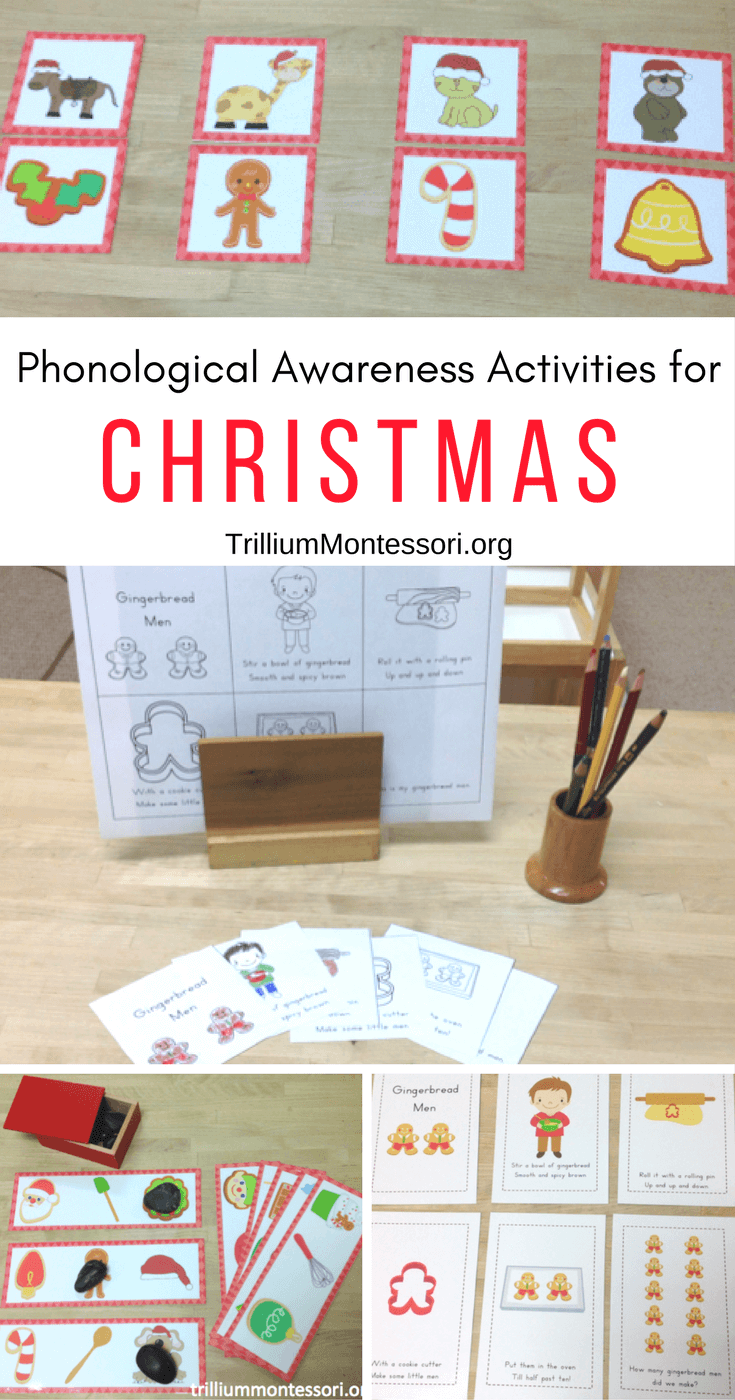 Phonological and Phonemic Awareness Activities for Christmas and December