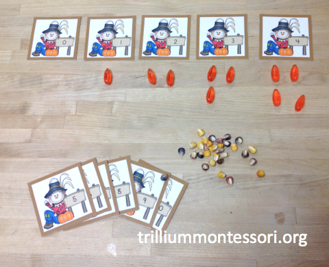 November Scarecrow Counting Cards