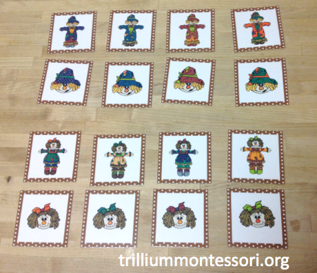 November Scarecrow Matching Cards