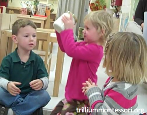Preschool Thanksgiving Feast- Making Butter