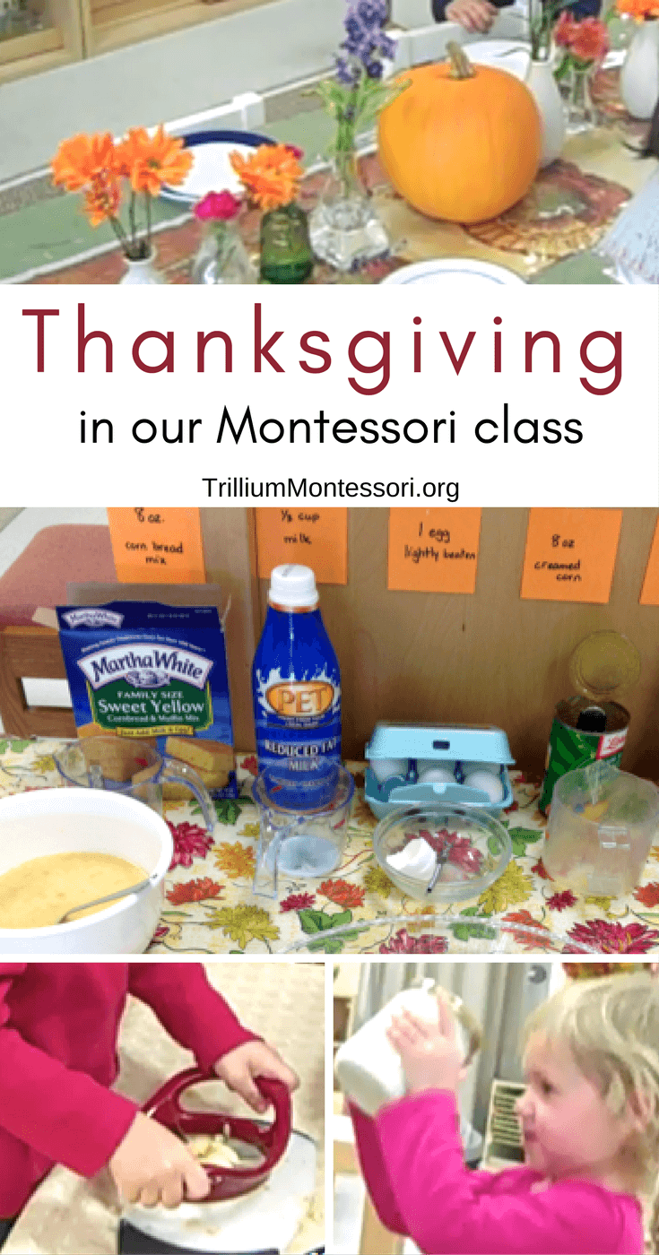 Thanksgiving in our Montessori Class