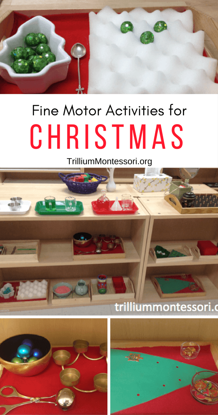 Preschool fine motor activities for December and the Christmas season