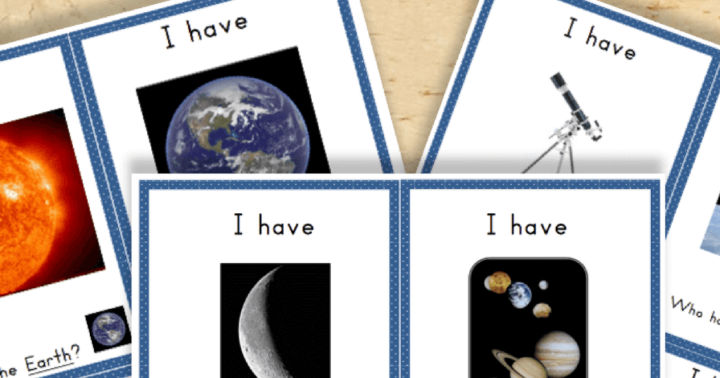Free Printable Astronomy and Space Vocabulary Printables