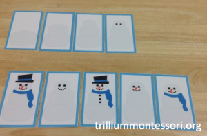 January- Preschool- Snowman Sequencing