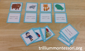 January- The Mitten Phonological Awareness- Rhyming Riddles