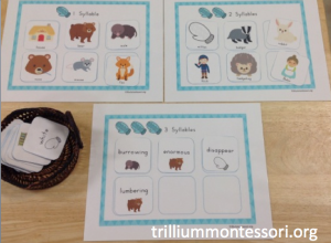 January- The Mitten Phonological Awareness- Syllable Counting
