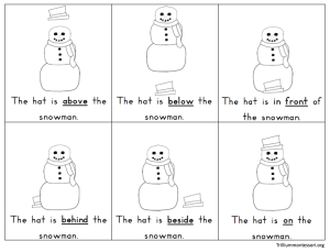 Snowman Prepositions Booklet