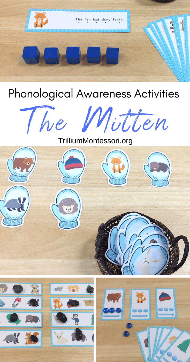 The Mitten by Jan Brett: Phonological Awareness Activities