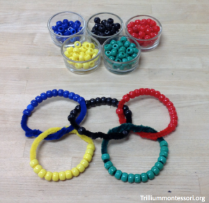 Olympic Rings Bead Stringing