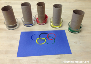 Olympic Rings Paper tube Paint Stamping