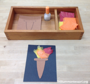 Olympic Torch Gluing Activity