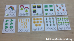 St Patricks Day Number Counting Clip Cards