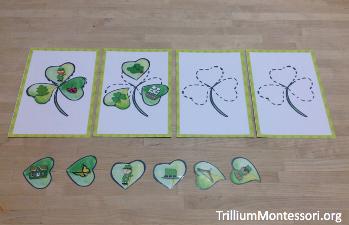 St Patricks Day Phonological Awareness Activity Beginning Sounds Build a Shamrock
