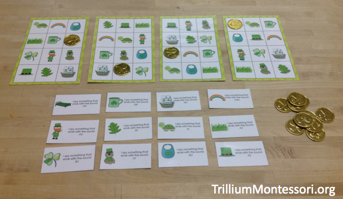 St Patricks Day Phonological Awareness Activity Ending Sounds I Spy Bingo