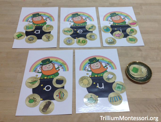 St Patricks Day Phonological Awareness Activity Middle Vowel Sorting