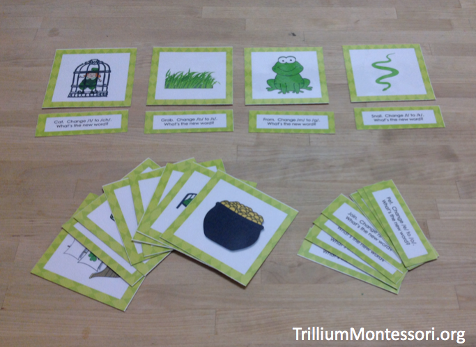 St Patricks Day Phonological Awareness Activity Phoneme Substitution Cards