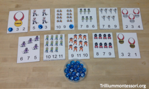 Winter Olympics Counting Clip Cards from 3 Dinosaurs