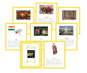 Asia A to Z South Asia Cards
