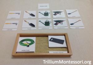 Garden Tools 3 Part Cards from Montessori Printshop