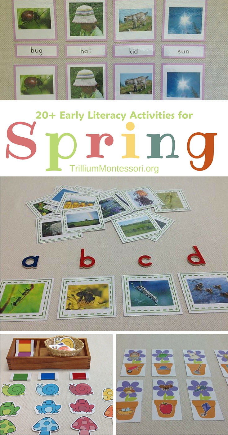 Early literacy activities for spring
