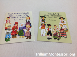 paper dolls with clothing from Europe