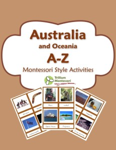 1 Australia Montessori Activities Printable Pack